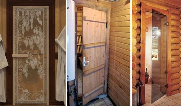 Внутренние двери в баню