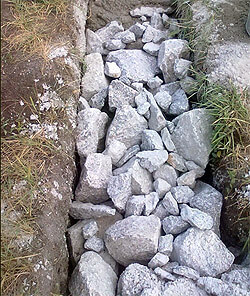 Строительство бутового фундамента для бани из бруса (фото)