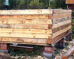 Фундамент для бани из бруса (фото)