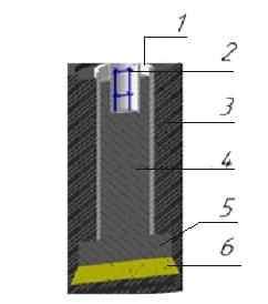 Схема устройства фундамента из асбестоцементных труб