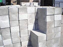 Пеноблоки на строительной площадке (фото)