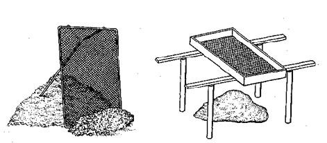 Строительный грохот и сито для просеивания песка