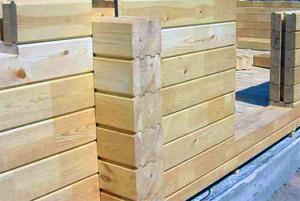 Стены из бруса до наружной отделки (фото)