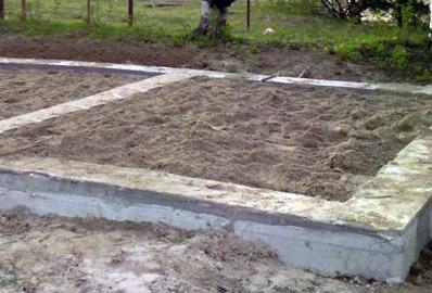 Песчаная подушка для бетонного пола по грунту (фото)