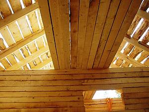 Строительство потолка в бане - ответственный этап (фото)