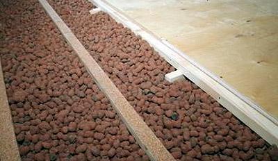 Утепление потолочного перекрытия в бане керамзитом (фото)