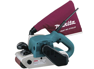 Ленточная шлифовальная машина Makita с мешком для сбора пыли (фото)